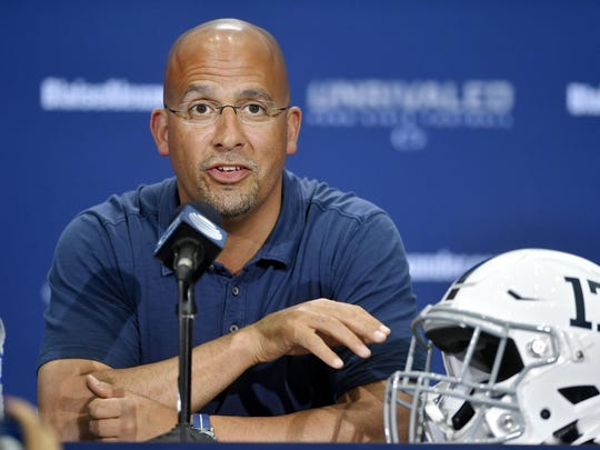 Penn State football coach James Franklin is enjoying