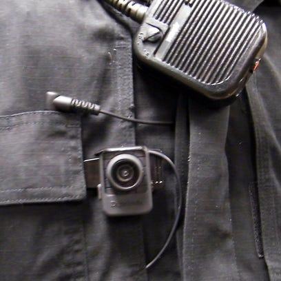 A police officer's body camera.
