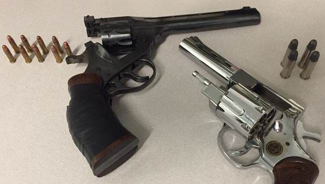 An H&R Sportsman .22-caliber revolver with nine rounds of ammunition and a loaded Arminius Titan Tiger .38-caliber revolver with four rounds of ammunition were seized last year by Passaic County sheriff's officers in Paterson.