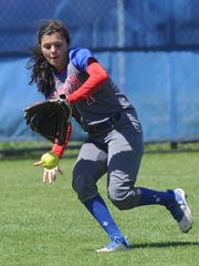Cooper center fielder Haley Tripaldi chases down Atayisa