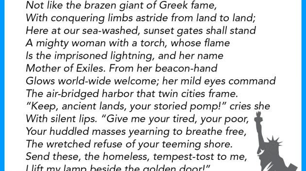 Yes Statue Of Liberty Poem Is Linked To Immigration Says