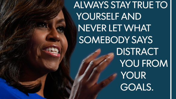 michelle obama stay true to yourself