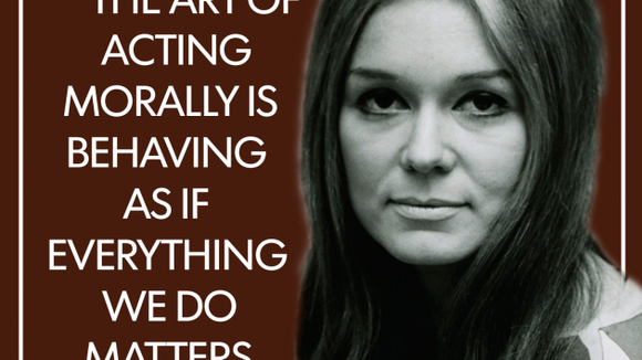 gloria steinem the art of acting morally