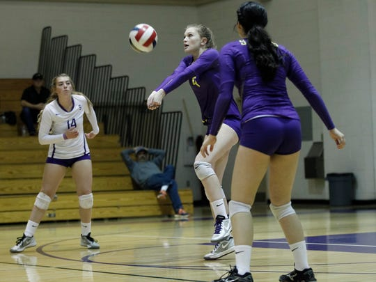 Salinas' Sam Shaffer hits the ball during an 2016 CIF Central Coast Section: Division 1 Girls Volleyball Tournament Abraham Lincoln at Salinas High on Wednesday, November 2, 2016 in Salinas, Calif. -- Vernon McKnight/for The Californian
