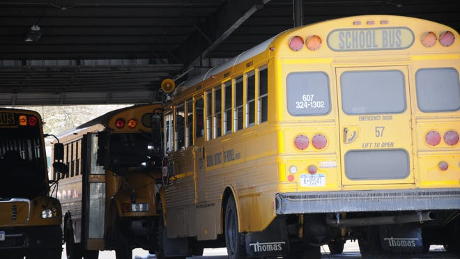 Hornell City School District buses are leased, with the school board accepting a $40,240.89 bus leasing contract from Ontario Investments last week.
