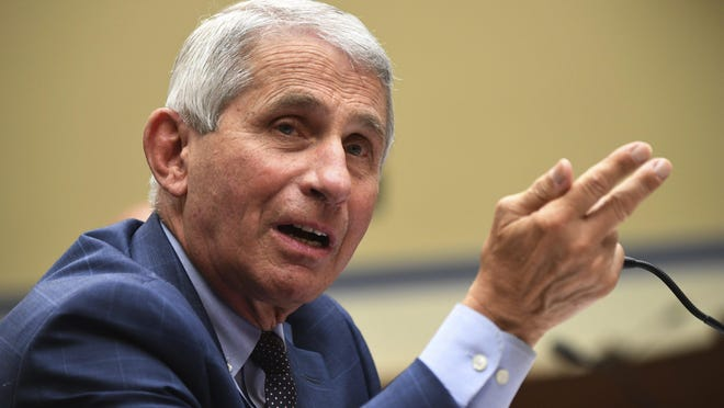 Dr. Anthony Fauci, the nation's top infectious disease expert and a leader in the government's response to the coronavirus pandemic, received an award from Dell Medical School at the University of Texas on Thursday.