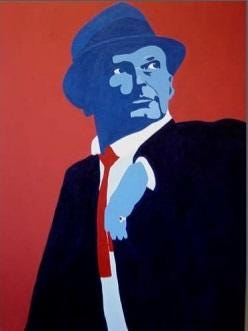 """Timothy Gold's acrylics work """"My Way"""" is on display at the Capitol Annex."""