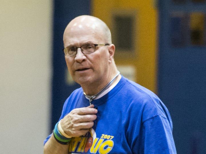 Lebanon Catholic head boys basketball coach Scott Clentimack