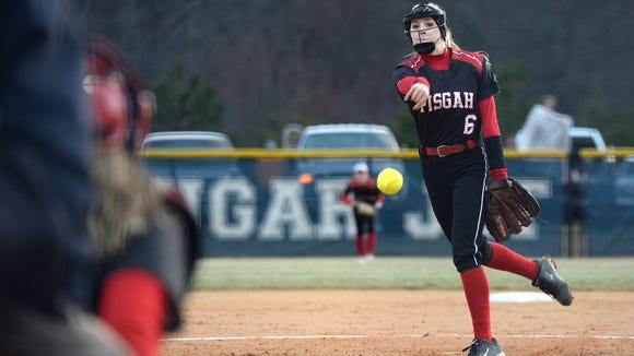 Madison Whitted pitched and hit a home run for Pisgah on Friday in Candler.