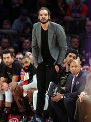 New York Knicks center Joakim Noah has yet to play