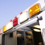 A firefighter working to battle a wildfire north of Helena has been hospitalized after an ATV crash.