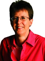 Missy Rosenberry, new Our Towns East columnist, in studio in Rochester Thursday afternoon, February 21, 2013.