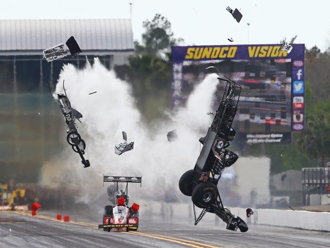Larry Dixon's NHRA crash