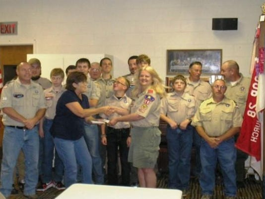 boy scout troop donation