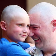 Randolph cops shave their heads to support officer's cancer battle