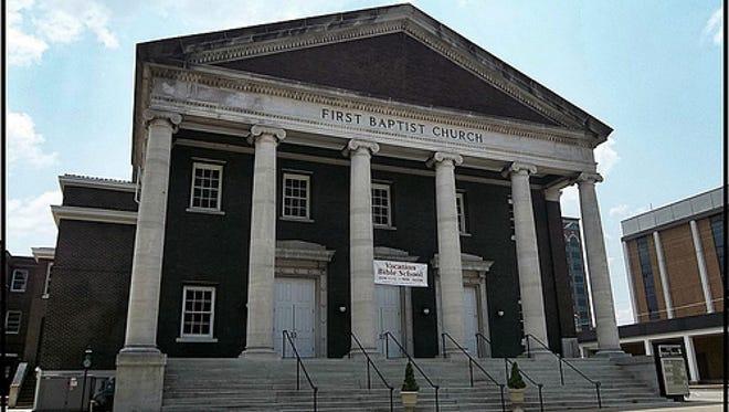First Baptist Church on East Main Street.