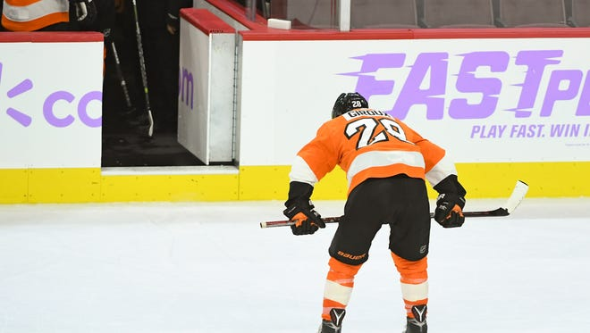 Claude Giroux and the Flyers have lost nine straight, making the playoffs look like a pipe dream.