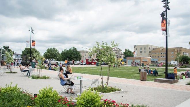 Elstro Plaza in downtown Richmond