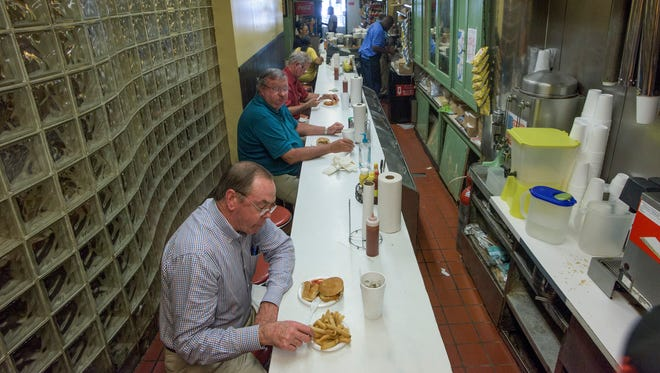 Chris' Hot Dogs on March 21, 2017. Chris' for 100 years has served Montgomery residents, including Hank Williams, who often came in late at night after gigs.