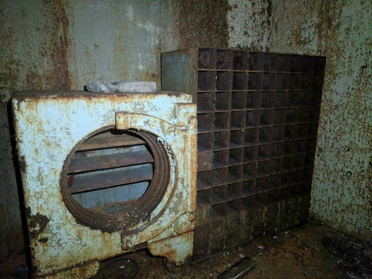 The inside of the vault in the old Howell Bank building