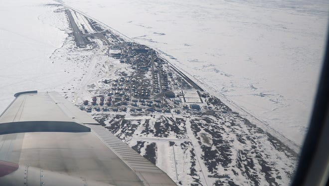 The tiny island town of Shishmaref, Alaska is vanishing into the ocean as erosion washes away the sand upon which it sits.