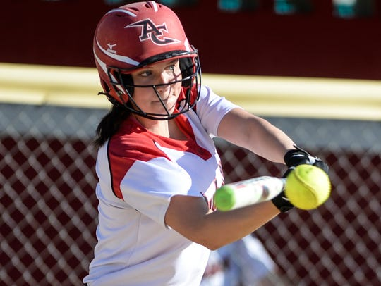 Annville-Cleona's Morgan Zimmerman connects on a pitch