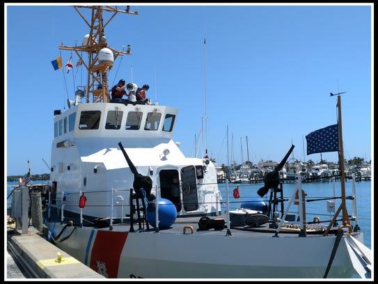 U.S. Coast Guard Cutter Finback at dock in Fort Pierce.