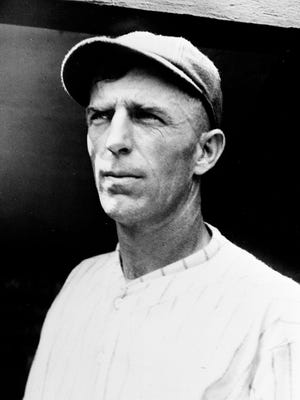 Fred Charles Merkle as pictured in 1926.    As a New York Giants player he is the man who is credited with a baserunning error  which caused a playoff and loss of  the National League pennant.