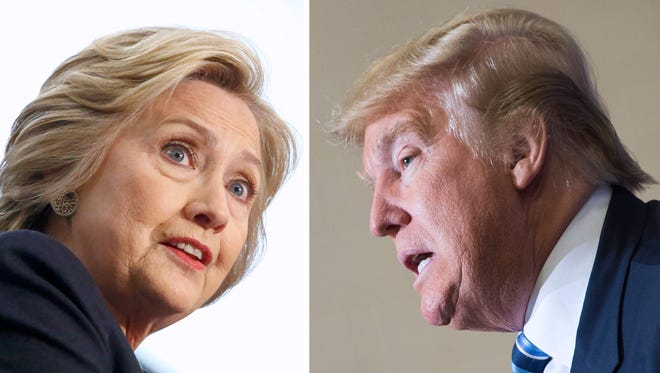 Democratic presidential candidate Hillary Clinton and Republican candidate Donald Trump.