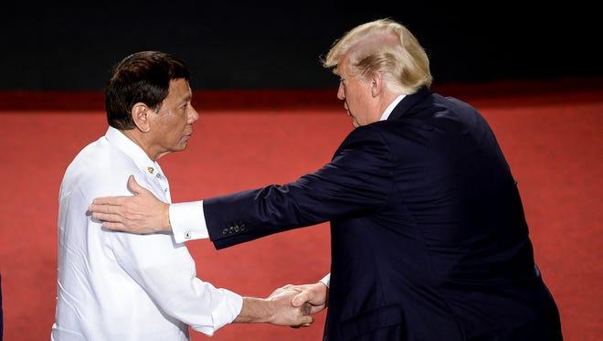 Philippine President Duterte and President Trump