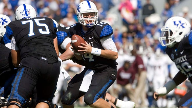 Kentucky Wildcats quarterback Patrick Towles in October of 2012.