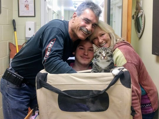 John, Ryan, and Jen Pizzo head home with Neo, who chose