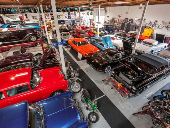 Inside Reggie Jackson's garage.