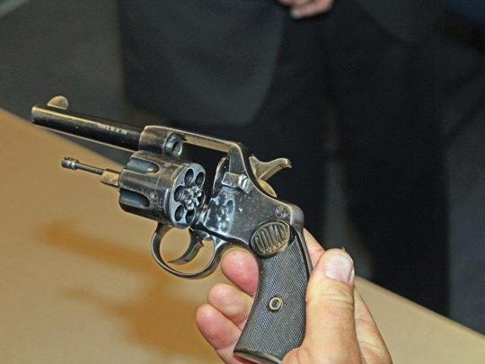A pistol once carried by Thomas Malone, Wausau's first police chief was given to the Wausau Police Department last week.