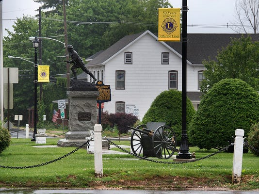 The restored WWI gun returned to the square. Paul Kuehnel - York Daily Record/ Sunday News