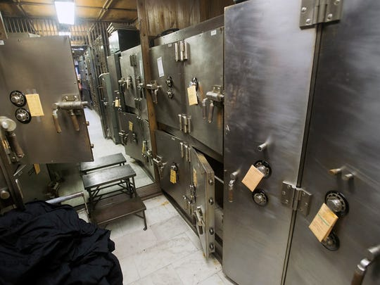 A room of safes behind the safe deposit boxes in the main vault. A redevelopment of the former Citizens Bank building on Continental Square in York Monday July 27, 2015. Paul Kuehnel - York Daily Record/ Sunday News