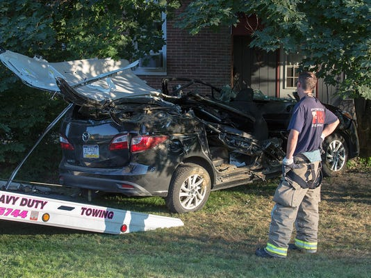 Two people were flown to York Hospital on Aug. 15 after a two-vehicle crash in Heidelberg Township, according to a news release from Southwestern Regional Police Department.