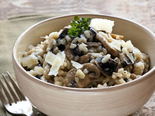Freshly grated Parmesan cheese adds zest to this risotto.