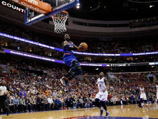 Knicks 76ers Basketball