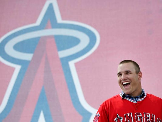 Angels Trout Contract Baseball