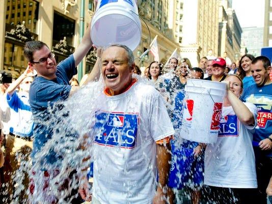 MLB Ice-Bucket Challenge Baseball
