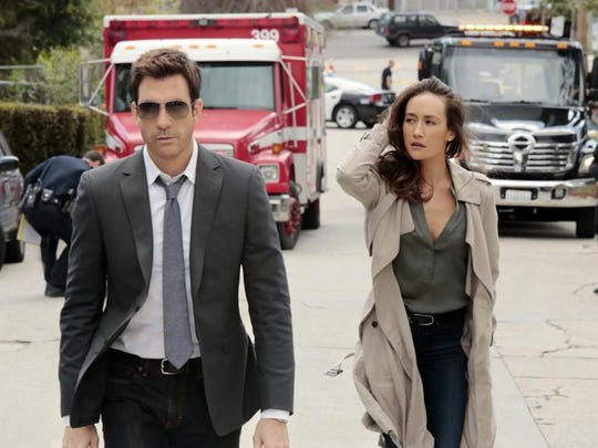 "Dylan McDermott and Maggie Q star in the psychological thriller ""Stalker."""