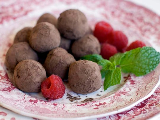 Local pastry chef Sue Barras considers chocolate truffles
