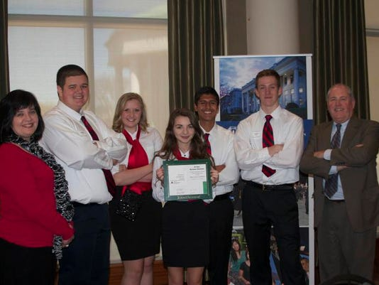 First Place Team, McBeanie & Co. of McGavock High School, pictured with teac.jpg