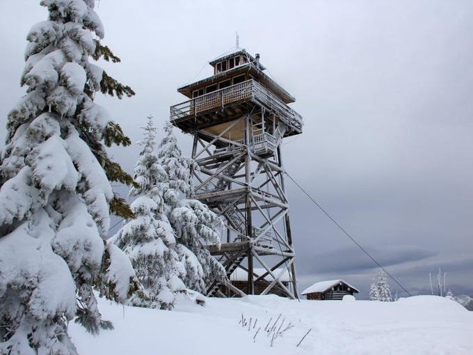Warner Ridge Lookout is a cozy home at 5,300 feet in a remote section of Willamette National Forest southeast of Oakridge that people can rent during winter.