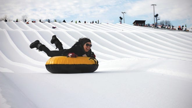 Sunburst Ski Area in Kewaskum is the world's largest tubing park.