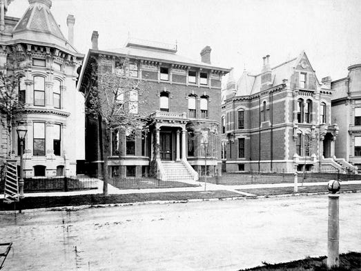 Alfred Street in Detroit's Brush Park in 1881 featured