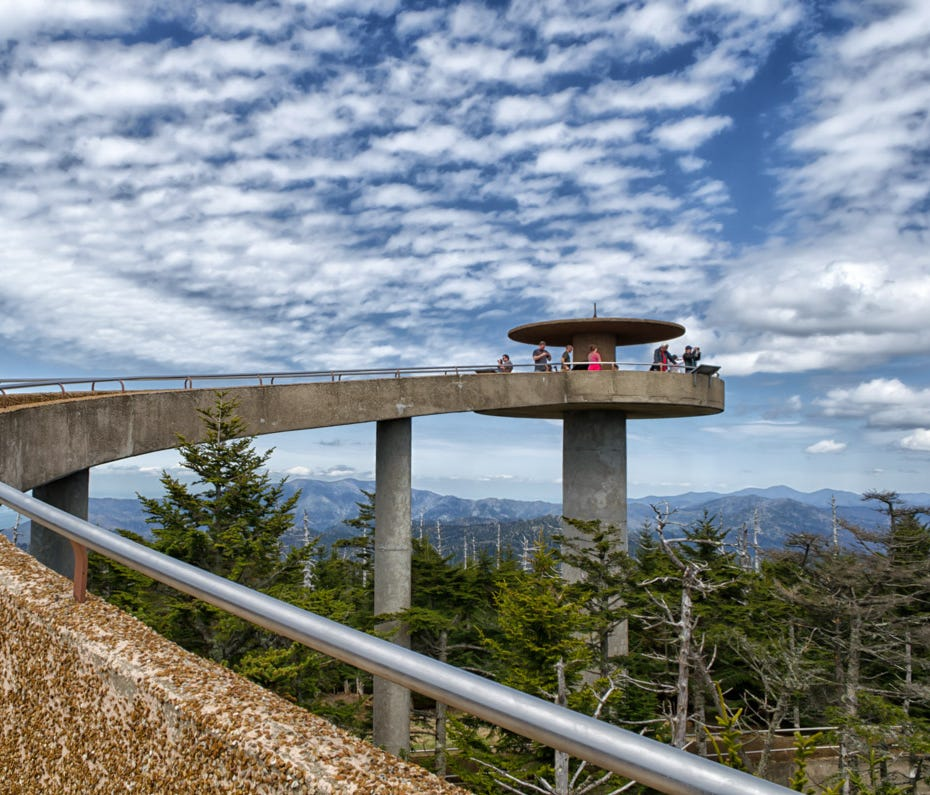 Clingmans Dome Observation Tower in Great Smoky Mountains National Park will be closed for repairs June 44-15.