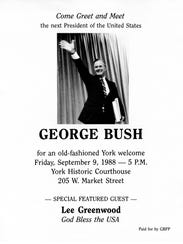 George H.W. Bush made an appearance in York in September