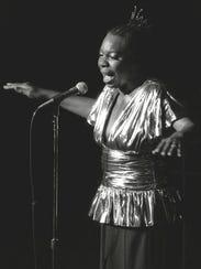 Nina Simone, shown performing at Avery Fisher Hall